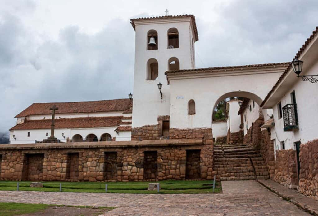 The church at Chinchero, built on top of An Inca Temple